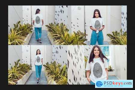 Dubai T-Shirt Mock-Up Set 4413519