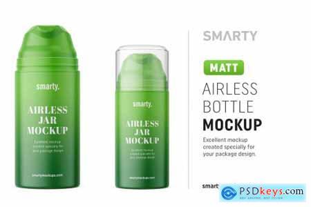 Matt airless bottle mockup 4552318