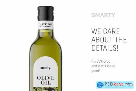 Olive oil bottle mockup 4539334