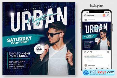 Urban Nights Flyer Template 4176050