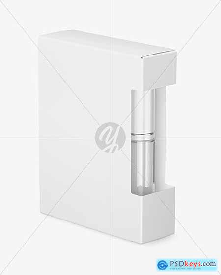 Box with Cosmetic Bottle Mockup 55810