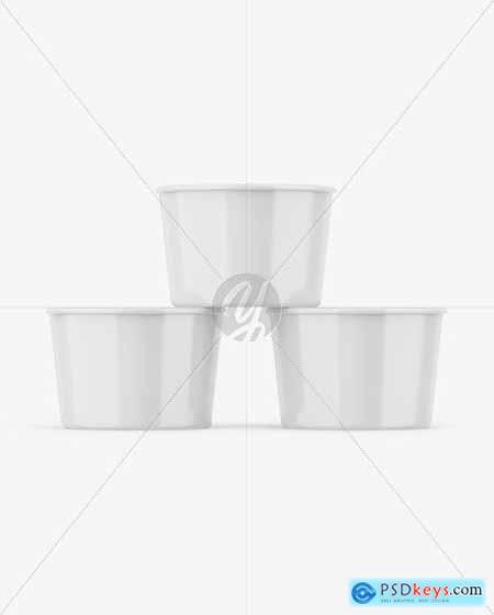 Three Glossy Cups Mockup 55893