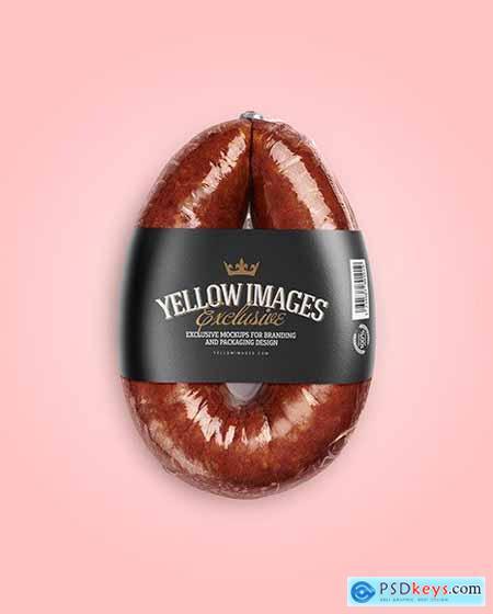 Dark Krakowska Sausage Mockup 55899