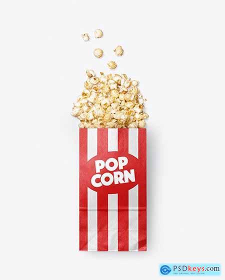 Paper Package w- Popcorn Mockup 55873