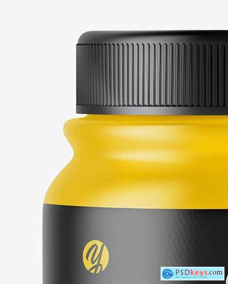 Matte Plastic Pills Bottle Mockup 55868