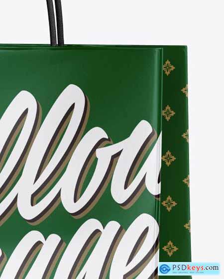 Matte Shopping Bag w- Rope Handles 55819