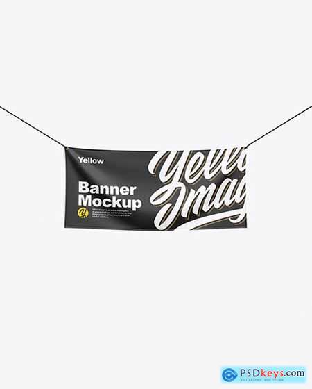 Textile Fabric Banner Mockup 55828