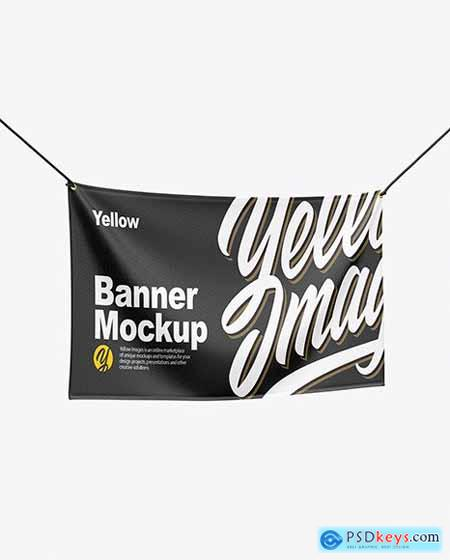 Textile Fabric Banner Mockup 55838