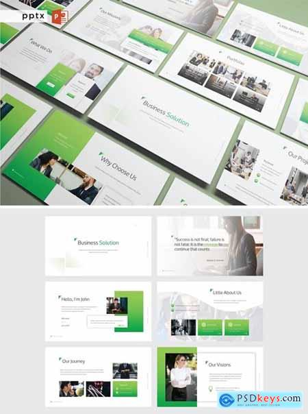 BUSINESS SOLUTIONS - Powerpoint, Keynote and Google Slides Templates
