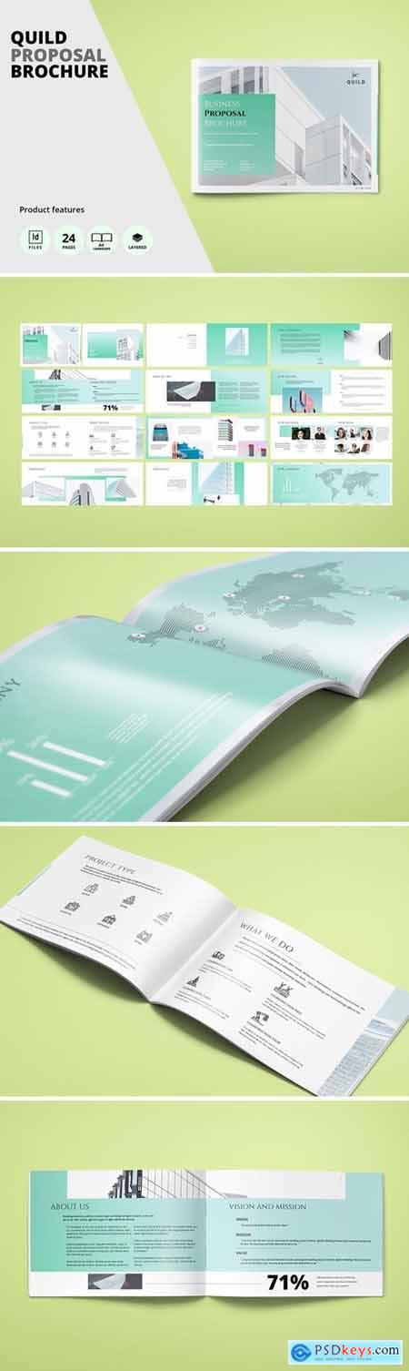 Architecture A4 Landscape Proposal Brochure