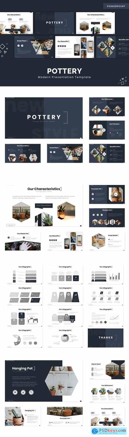 Pottery Powerpoint, Keynote and Google Slides Templates