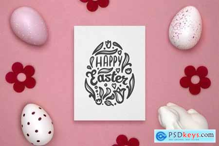 Easter gift card mockup