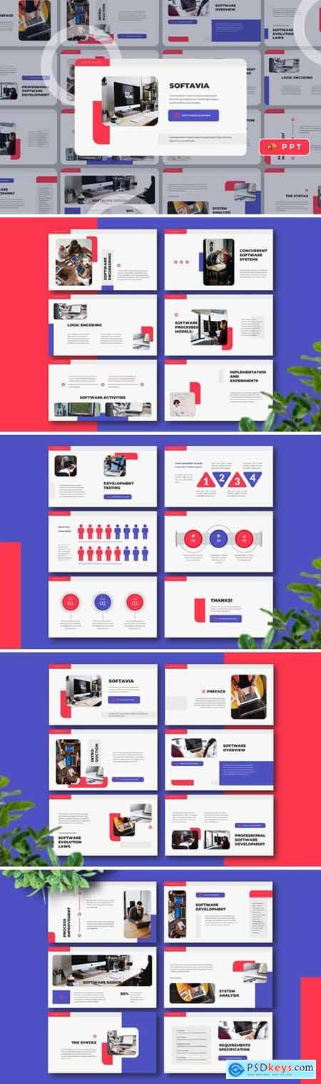 SOFTAVIA - Software Powerpoint, Keynote and Google Slides Templates