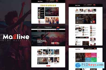 Magline - Blog & News Magazine PSD Template