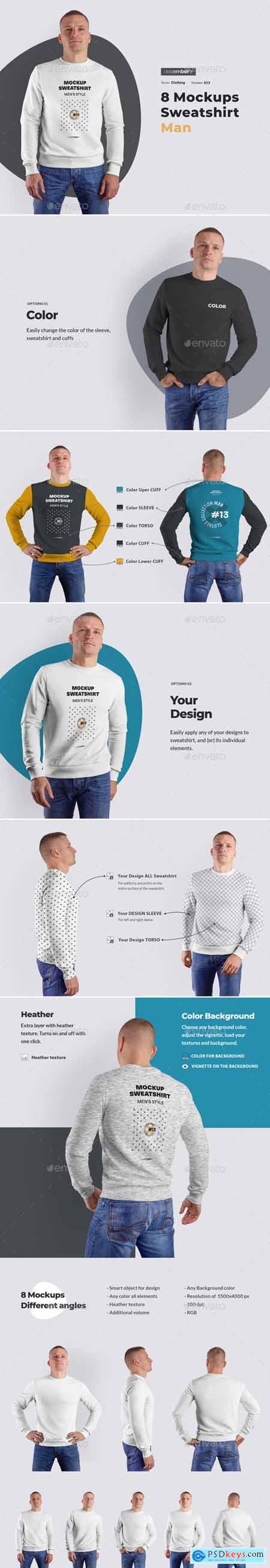 8 Mockups Mens Sweatshirt 25738358