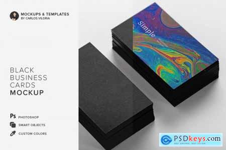 Black Business Cards Mockup 01 4498182