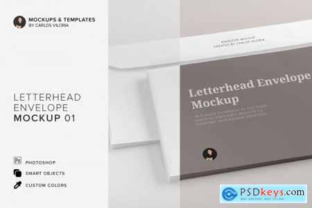 Letterhead Envelope Mockup 01 4524347