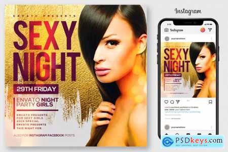 Ladies NIght Flyer Template 4192517