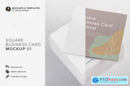 Square Business Cards Mockup 01 4528583