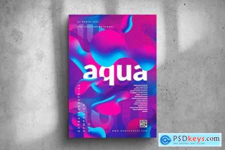 Aqua Party Big Poster Design