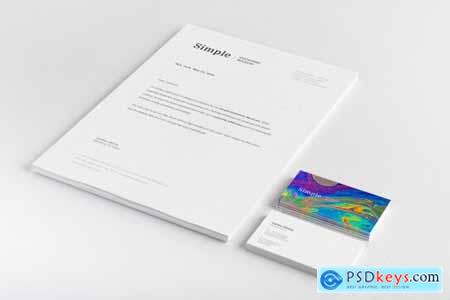 A4 and Business Cards Mockup 01 3807598