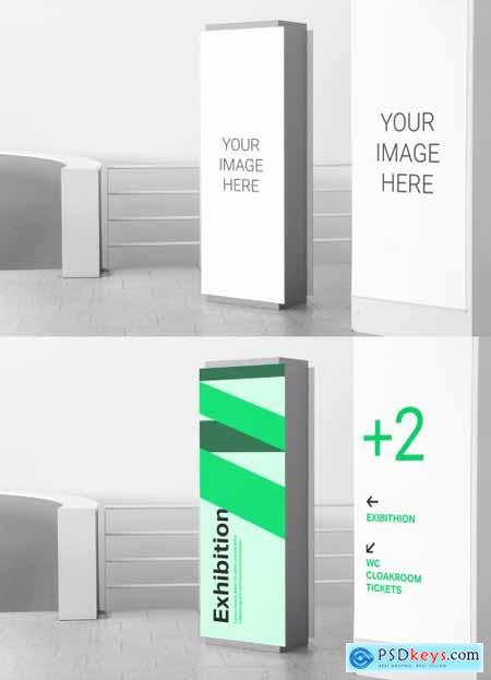 2 Tall Indoor Signs Mockup 319540121