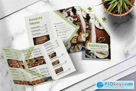 Food Menu Trifold Brochure Vol.02