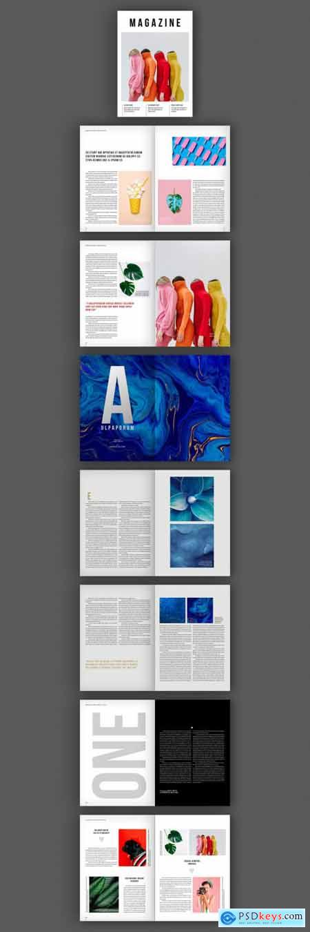 Magazine Layout with Bold Text Elements 319513883