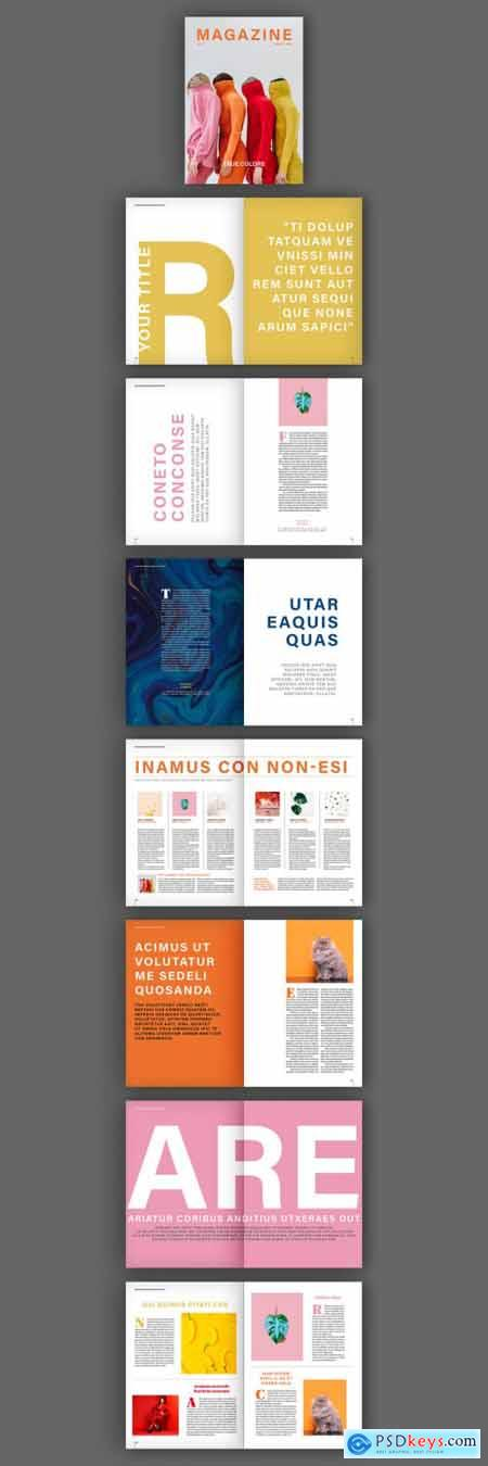 Magazine Layout with Bold Text Elements 319513916