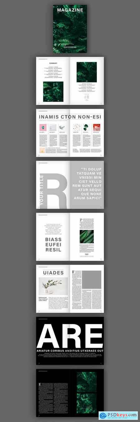 Magazine Layout with Bold Text Elements 319513931