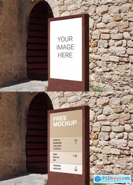 Sign Outside Old Building Mockup 319540237