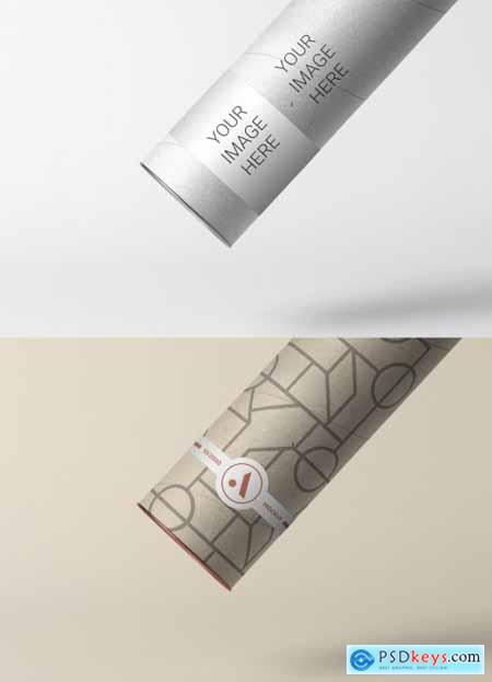 Tube Mailer with Label Mockup 319540195