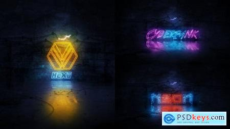 Neon Logo Reveal 22912859