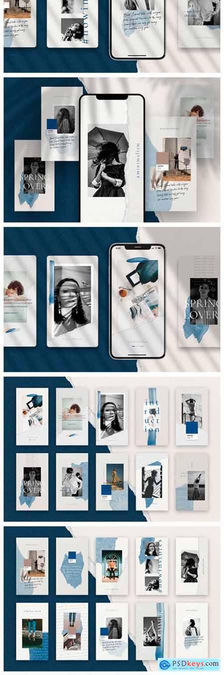 InstaBlue Minimal Instagram Stories 2960143