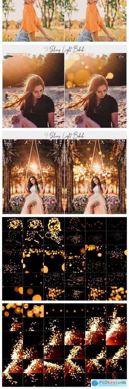 90 Shiny Light Bokeh Overlays 2975475