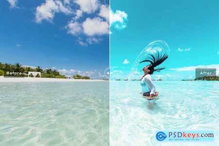Aquamarine Mobile & Desktop Lightroom Presets