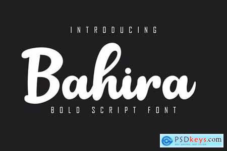 Bahira Bold Script Font