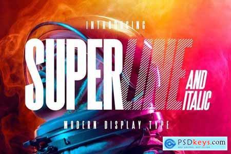 SuperLine Display Typeface 4585361