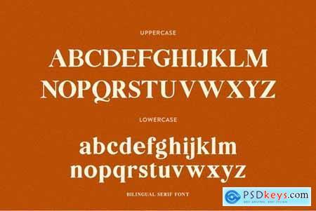 Bilingual Serif Font Duo 4585362
