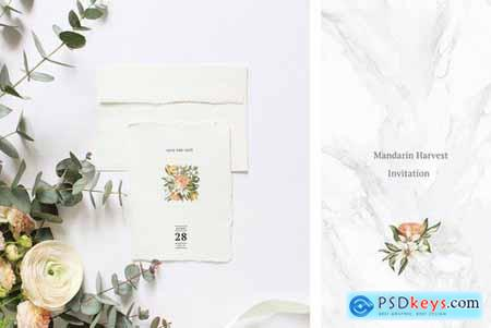 Mandarin Harvest Invitation