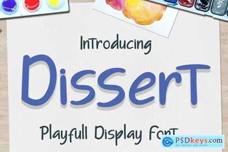 Dissert Playfull Display Font