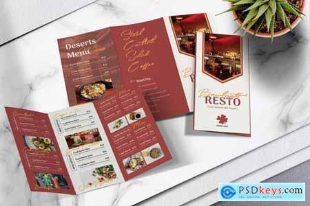 Food Menu Trifold Brochure Vol.03