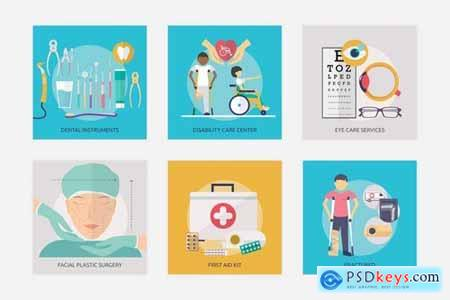 Medical and Healthy Vector Illustration