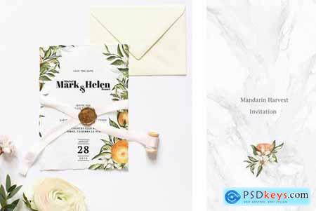Mandarin Harvest Invitation