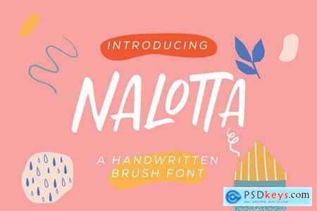Nalotta - Handwritten Brush Font