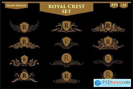 Set of Luxury Royal Crest