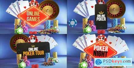 Poker Casino Logo Reveal Modular Pack 20867973