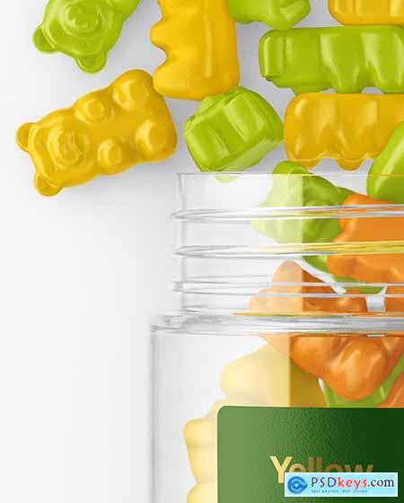 Plastic Bottle with Gummies Mockup 55987