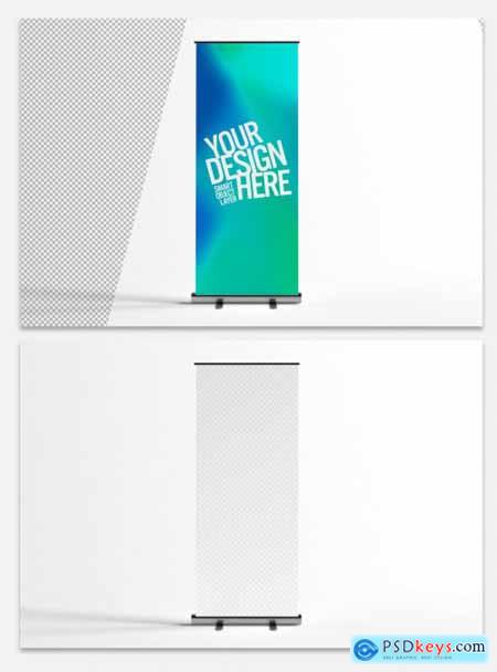 Mockup of a Standing Advertisement Banner 324064280