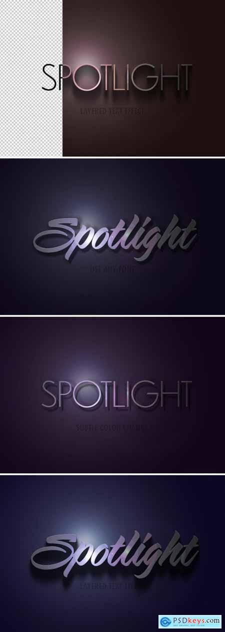 Spotlight Text Effect Mockup 324047148